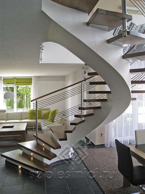 Бетонная лестница поворот 180 градусов СПБ