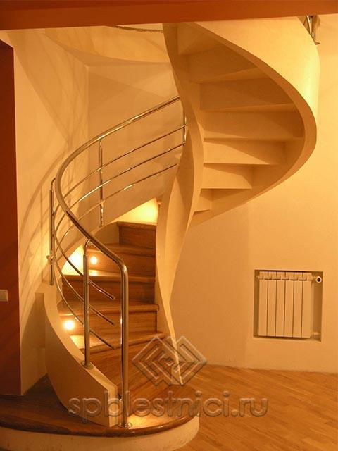 Бетонная лестница с поворотом СПБ