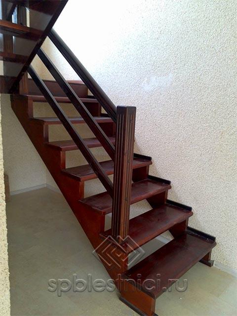Деревянная лестница на второй этаж купить СПБ