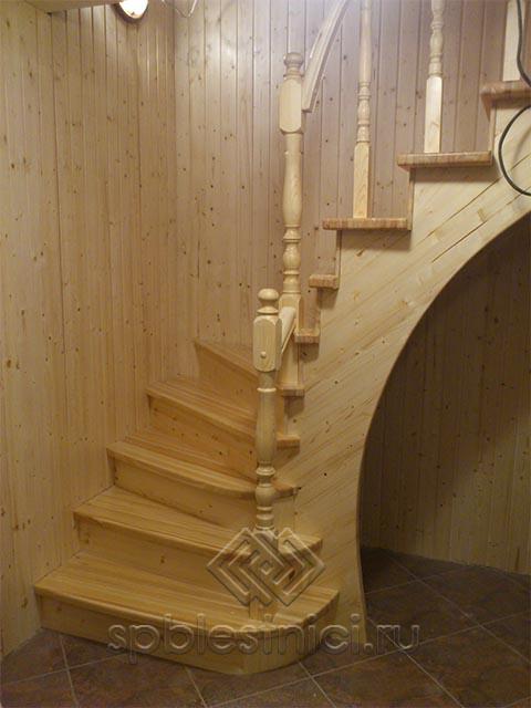 Деревянные лестницы на второй этаж фото СПБ