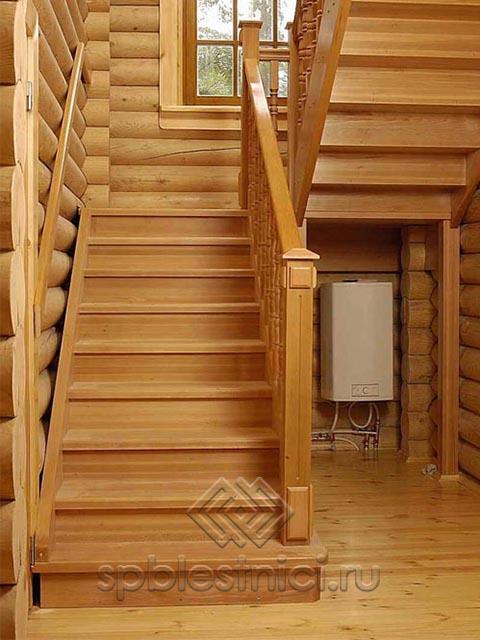 Деревянные лестницы на заказ СПБ