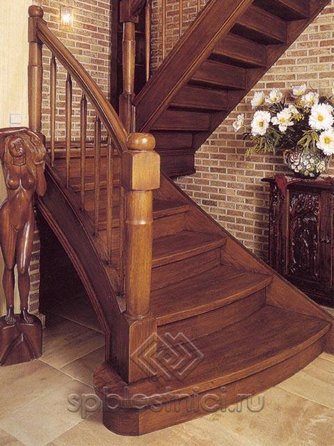 Деревянные лестницы в частном доме фото СПБ