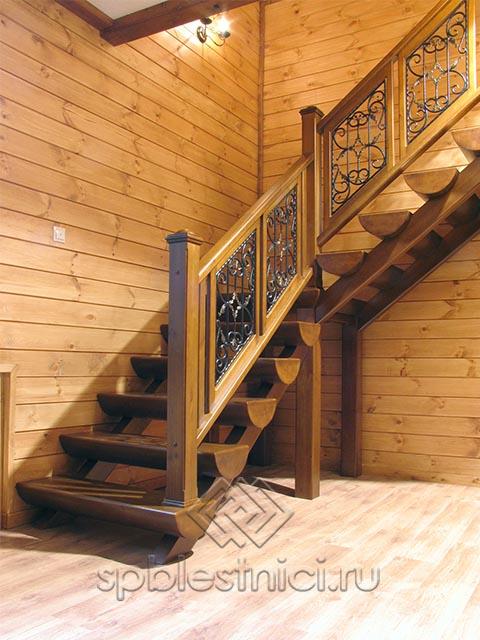 Деревянные лестницы второго этажа СПБ