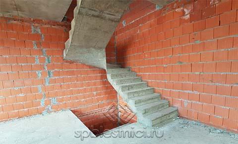 Фото бетонная лестница на 3 этаж