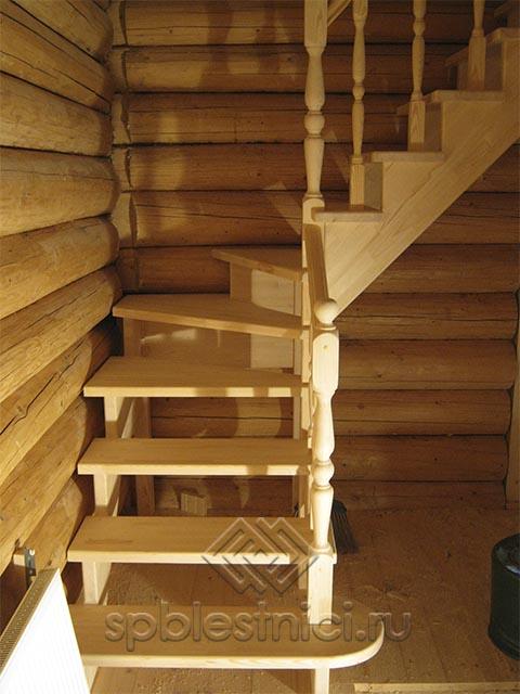 Купить дешёвую деревянную лестницу СПБ