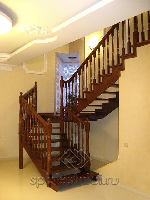 Купить лестницу деревянную на второй этаж цена СПБ