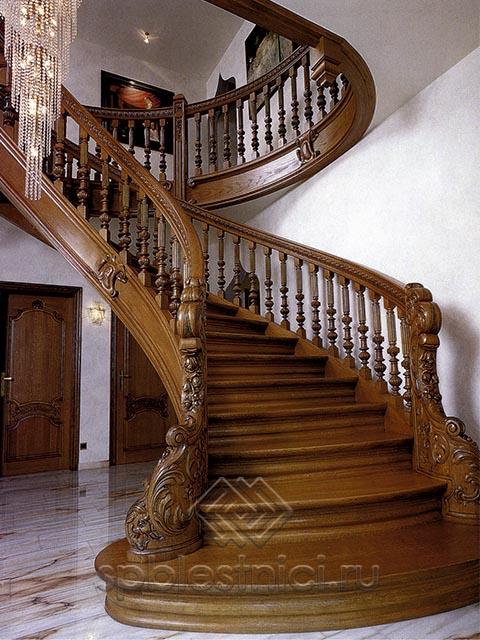 Лестница на второй этаж из ясеня СПБ