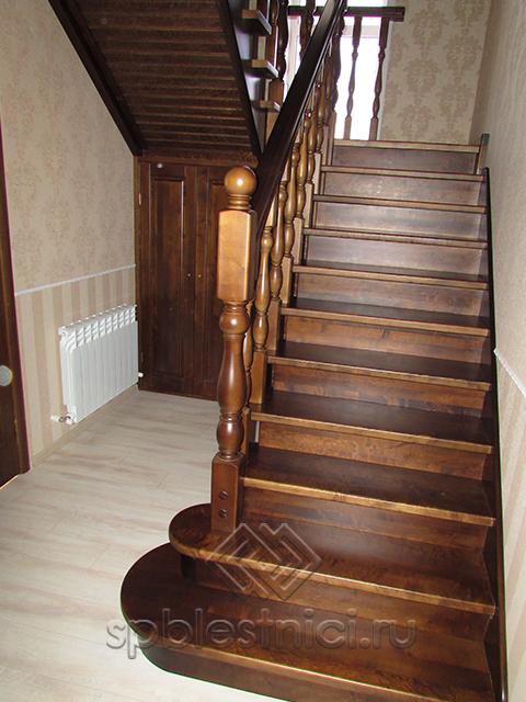 Лестницы деревянные фото СПБ