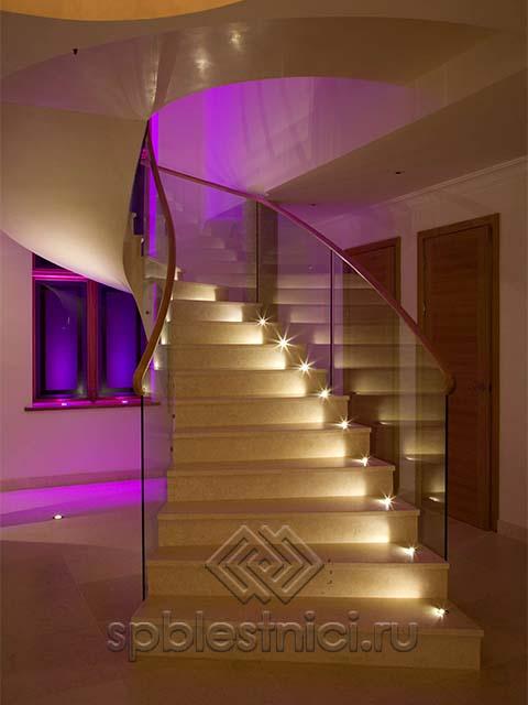 Заказать стеклянные ограждения лестницы